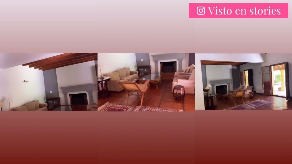 El salón de la nueva casa de Rocío Osorno