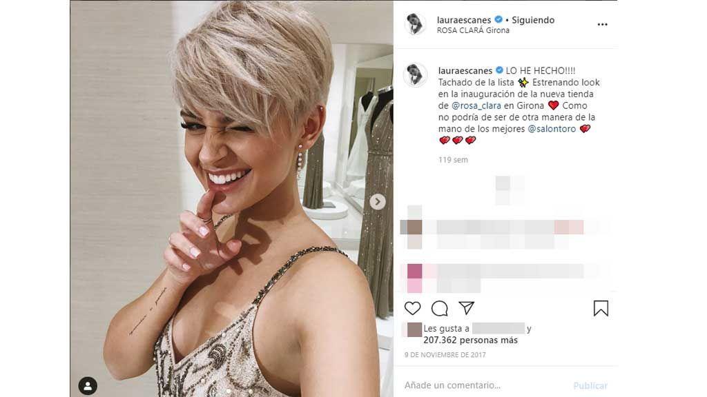 Laura Escanes muestra su cambio de look