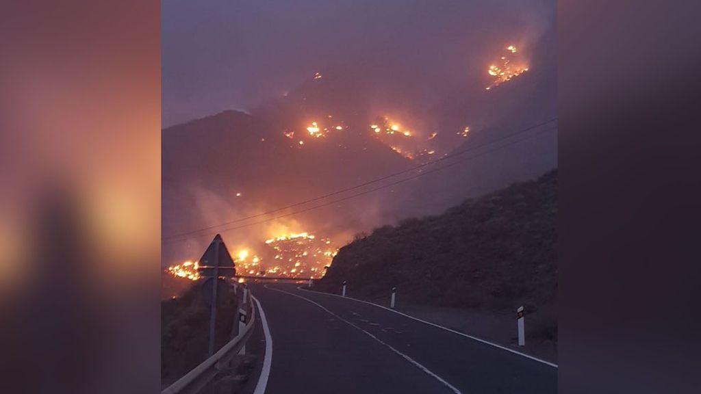 El incendio de Gran Canaria avanza sin control y alcanza la Reserva Natural de Inagua