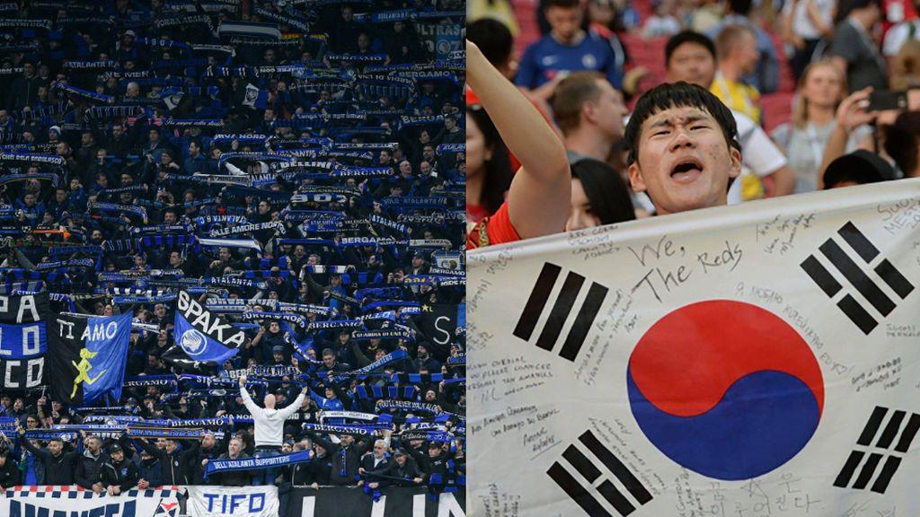 Corea del Sur suspende indefinidamente la liga de fútbol por el brote del coronavirus e Italia propone jugar algunos partidos a puerta cerrada