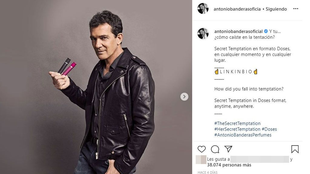 Antonio Banderas, con su nueva gama de fragancias 'Secret Temptation'