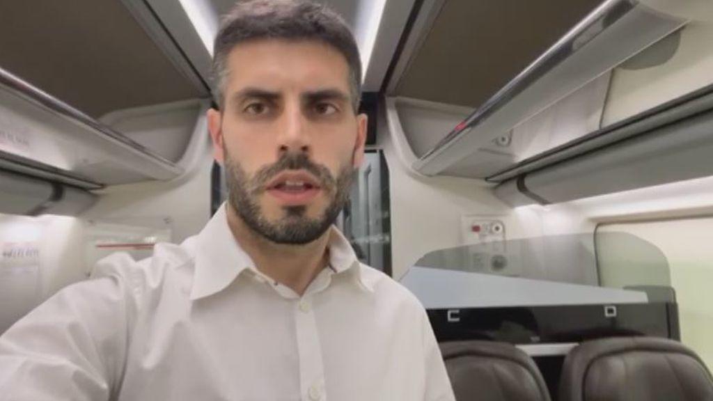 El tren de Roma a Milán casi vacío