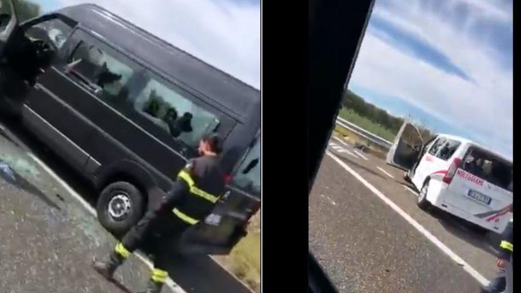 Emboscada de ultras en Italia en plena autopista: radicales del Bari agreden a aficionados e incendian furgonetas del Lecce