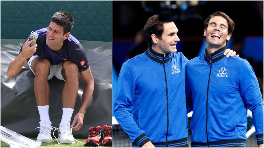 Nadal, Djokovic y Federer y su grupo de Whatsapp: de los piques por más Grands Slam a las apuestas