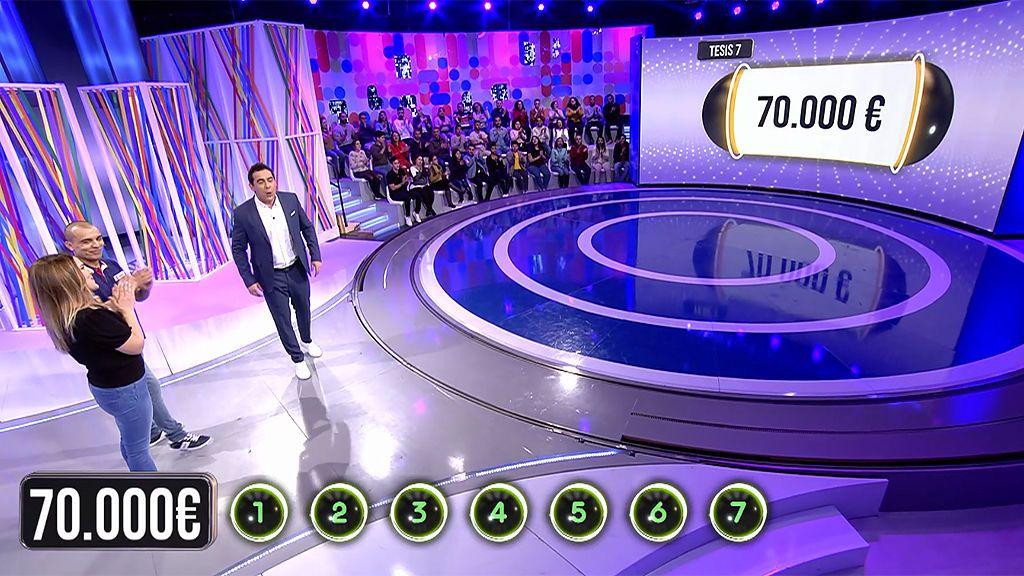 María y Airam son los primeros concursantes que se enfrentan a 'El Bribón' con 70.000 euros