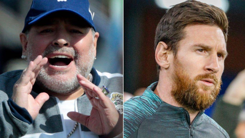 """Maradona se rinde a Messi ante del partido de Champions entre el Nápoles y el Barça: """"Es el mejor de la actualidad"""""""
