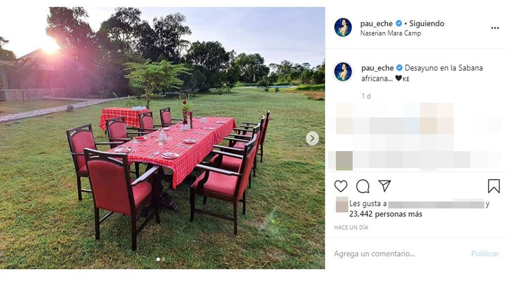Paula Echevarría comparte una imagen del lugar dónde va a desayunar