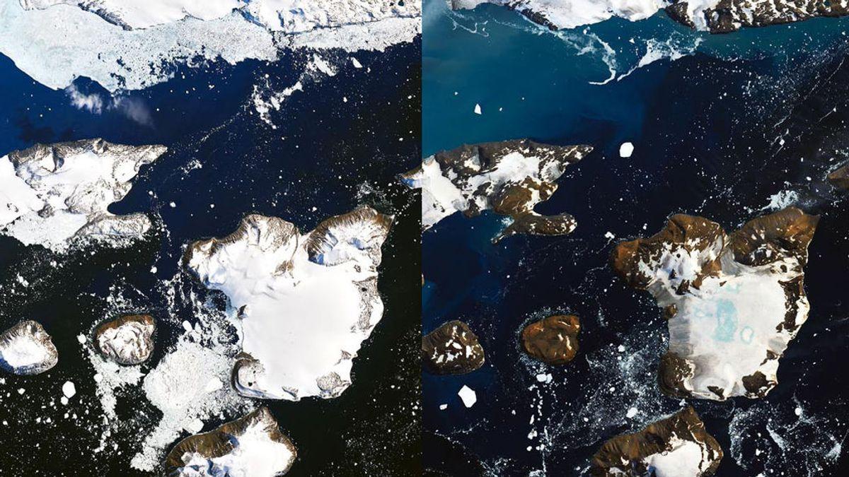 Las fotos de la NASA que muestran el deshielo de la Antártida