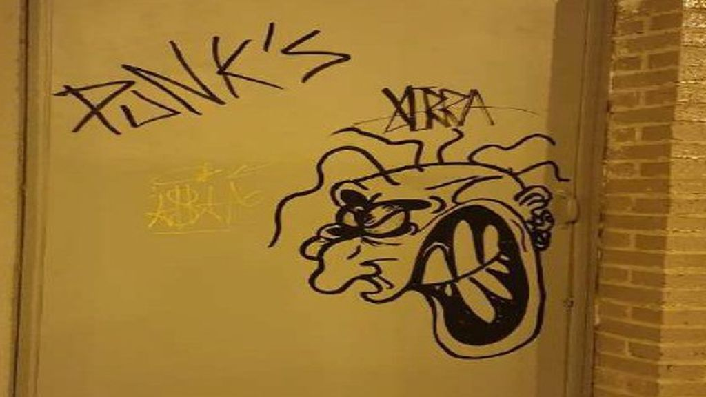 Un grafiti en Logroño
