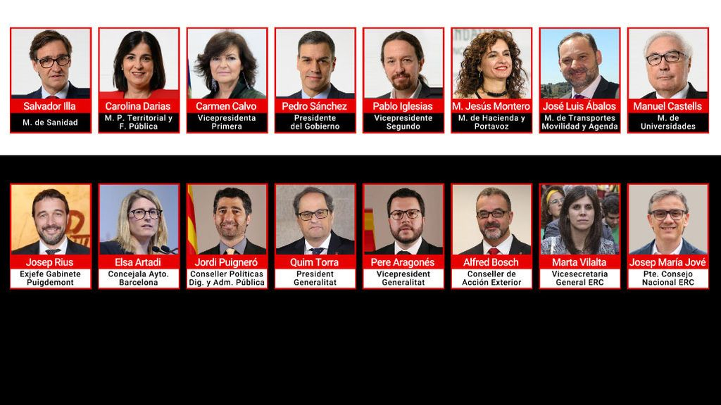 Participantes en la mesa para el diálogo sobre Cataluña