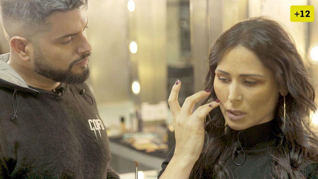 Rosa López se abre con Alberto Dugarte mientras la maquilla