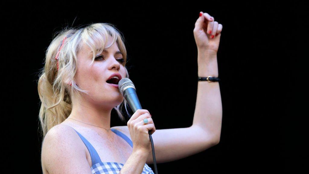 La cantante Duffy, durante un concierto en 2008