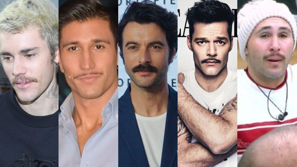 Mostachos célebres: El bigote se pone de moda entre los famosos