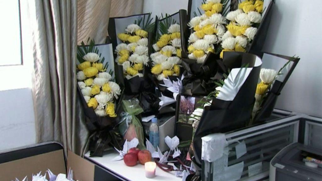 Funeral en China a los médicos  fallecidos por coronavirus