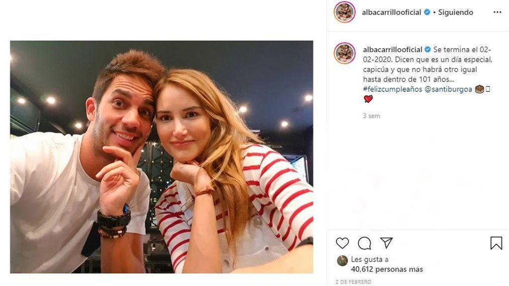 Alba Carrillo y Santi Burgoa posando juntos
