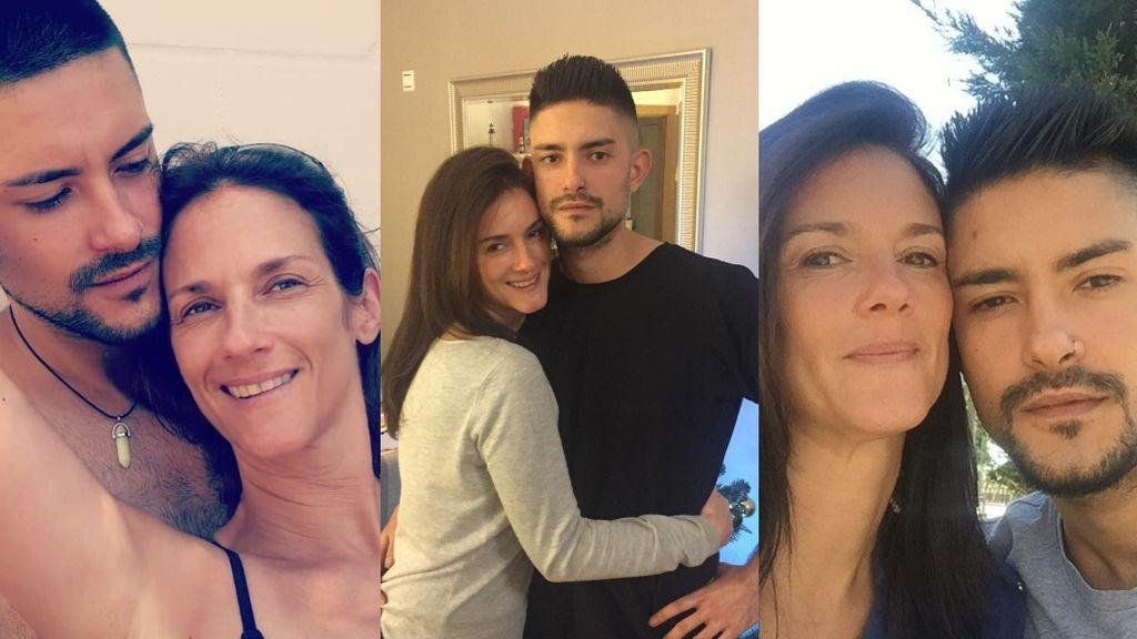 Aitor y su madre Elena