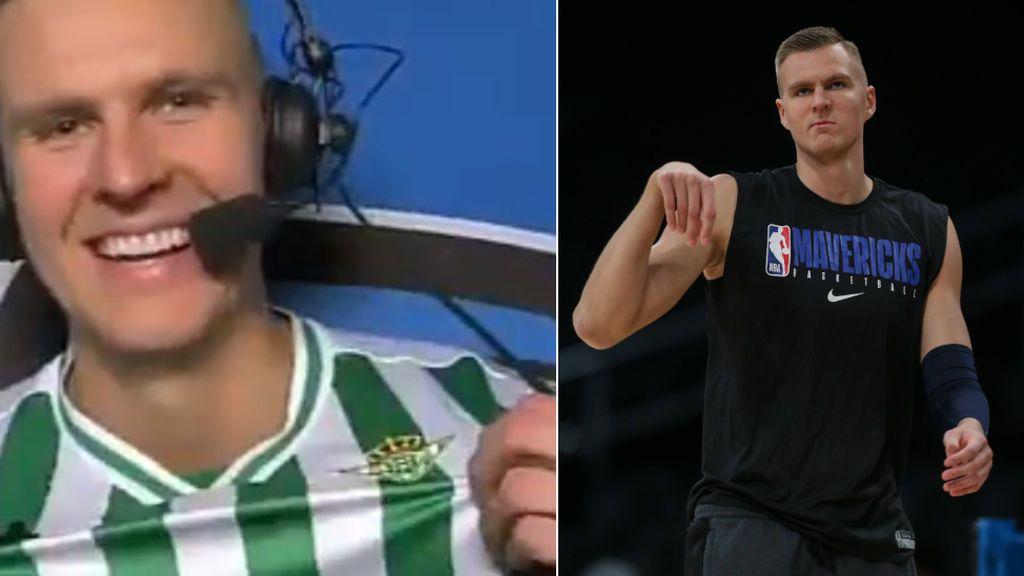 Kristaps Porzingis, jugador de la NBA y compañero de Doncic, orgulloso de su amor por el Betis