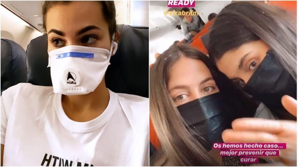 Marta Lozano y María G. De Jaime, con mascarillas en sus viajes