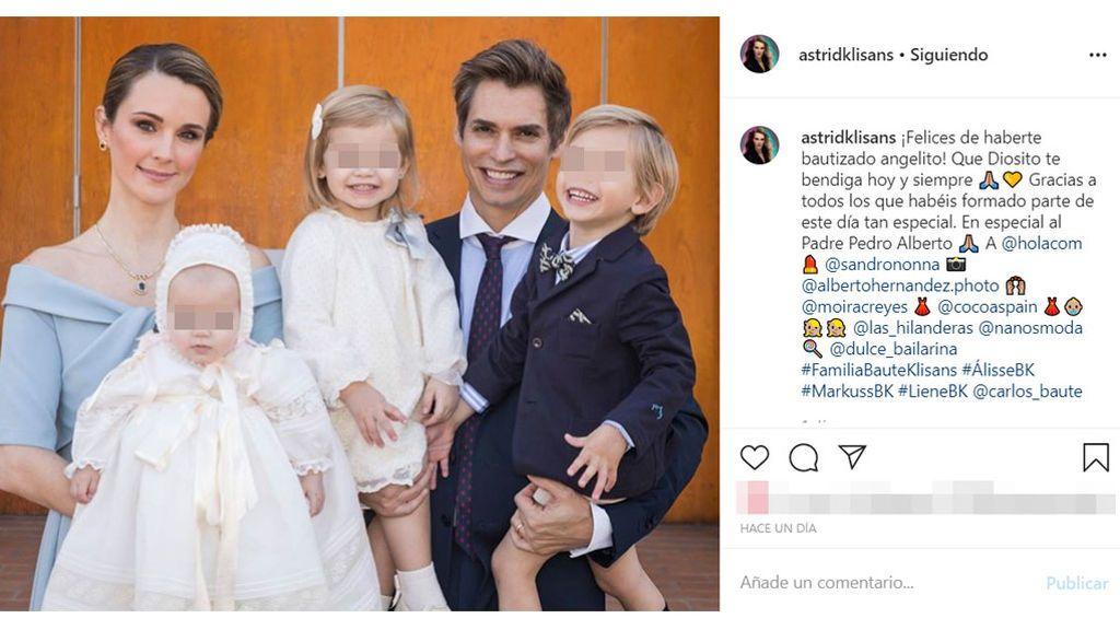 El bautizo de la tercera hija de Carlos Baute