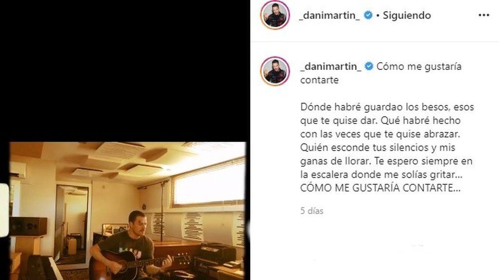 La canción que Dani Martín ha compuesto a su hermana fallecida