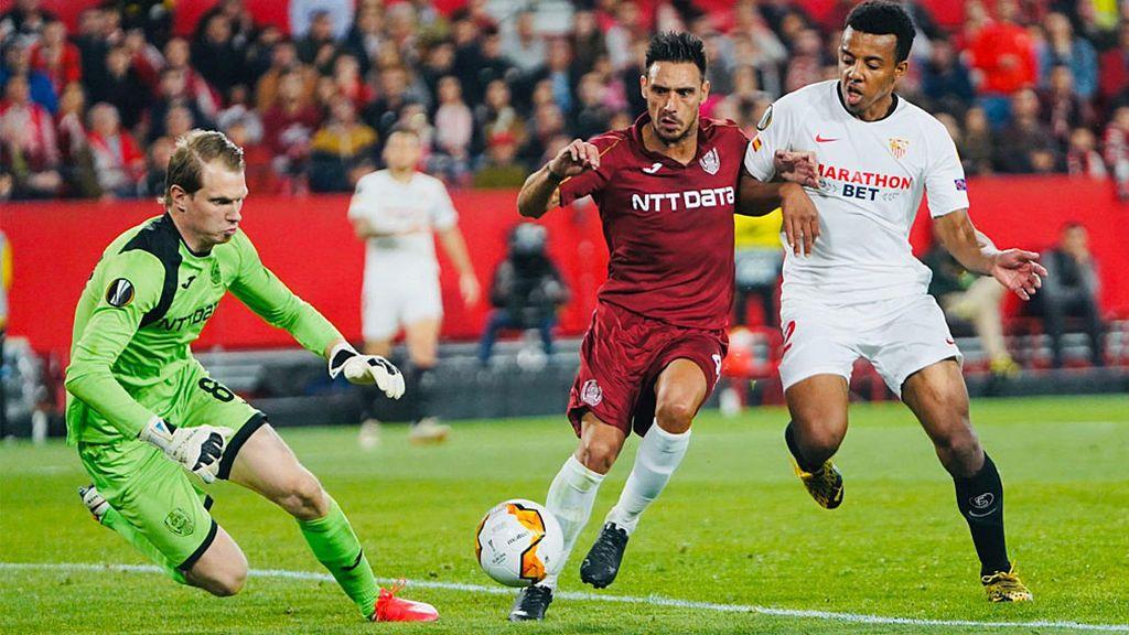 El Sevilla se lleva un buen susto ante el Cluj (0-0) pero ya está en octavos de la Europa League