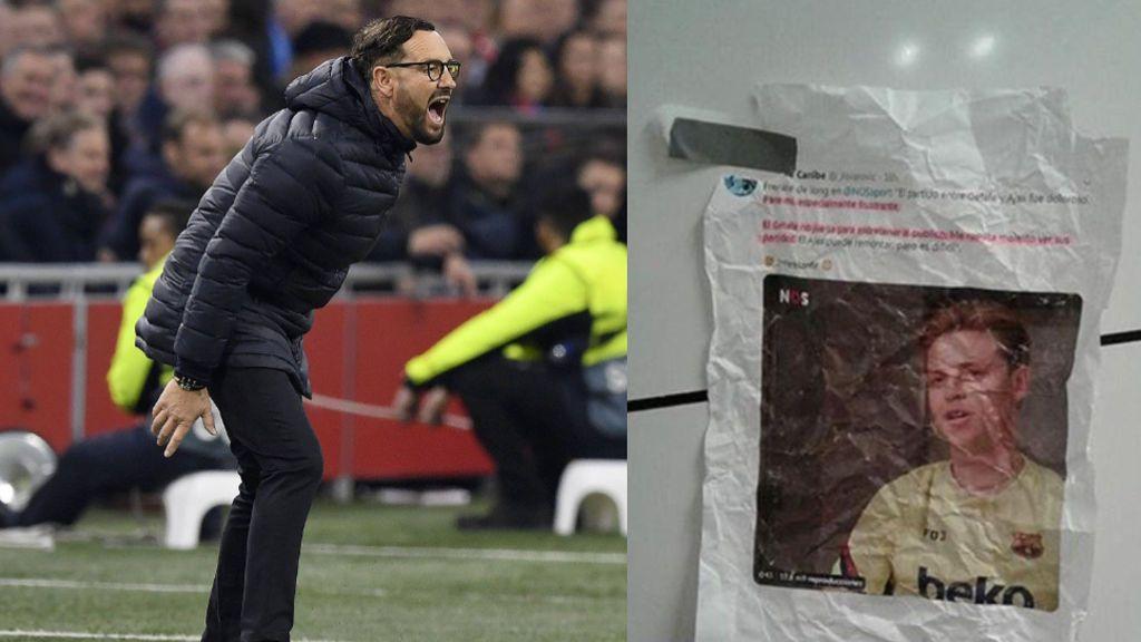 Bordalás motivó a sus jugadores en el partido ante el Ajax colgando las declaraciones de De Jong