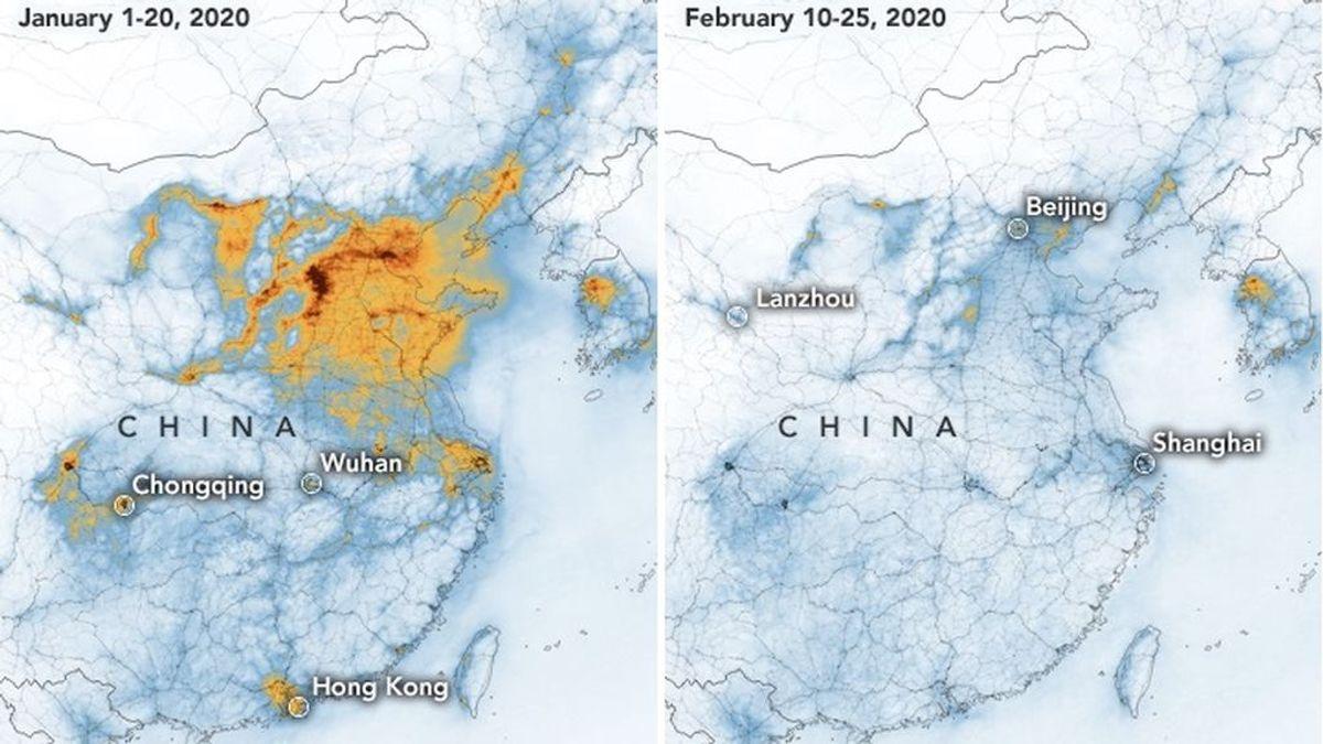 La NASA confirma el descenso de polución en China gracias al coronavirus