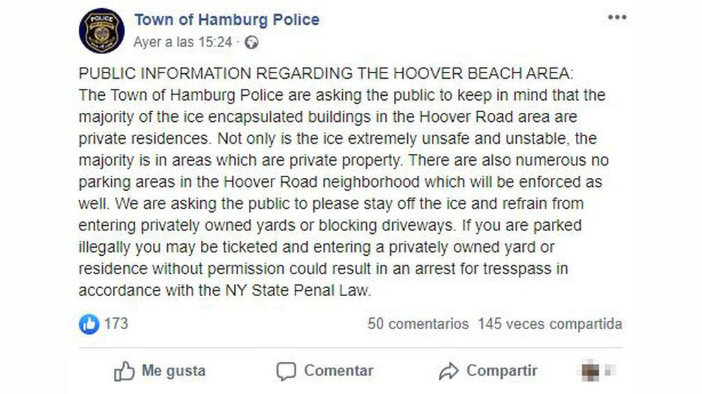 policia hamburg ny