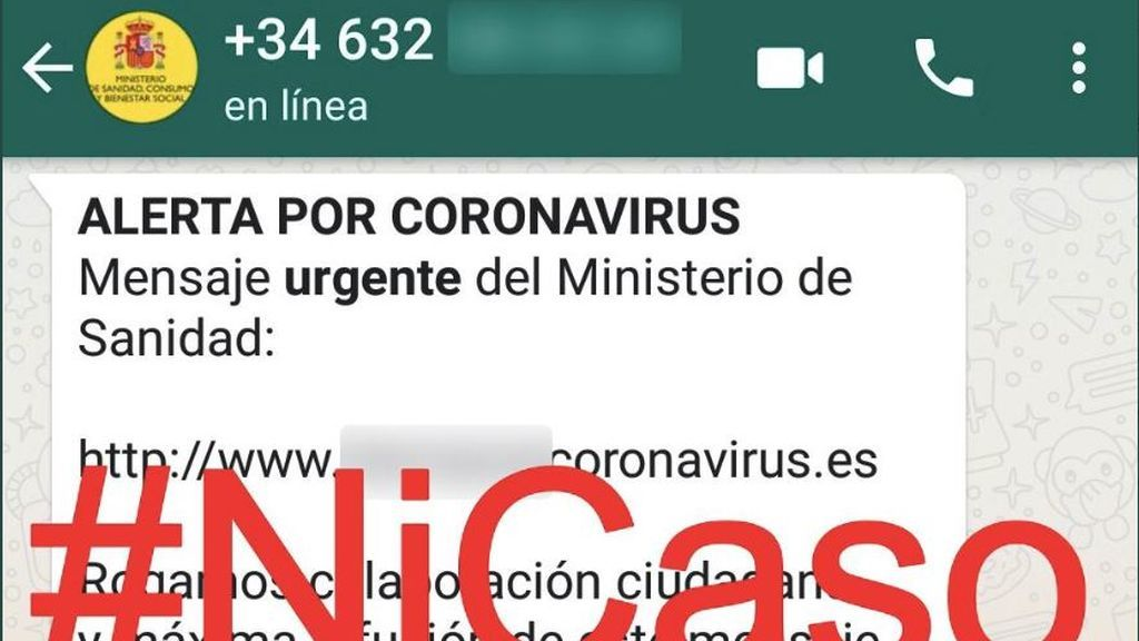 """Un mensaje falso de WhatsApp suplanta a Sanidad y da """"recomendaciones"""" sobre el coronavirus"""