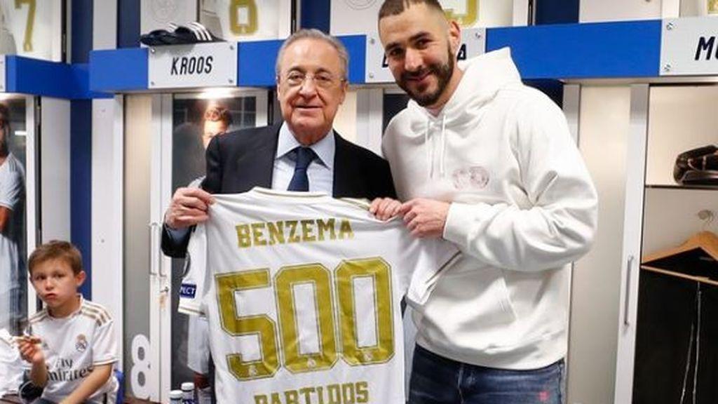 Benzema se hace una foto con Florentino Pérez y pillan al hijo de Kroos comiendo pizza en el vestuario