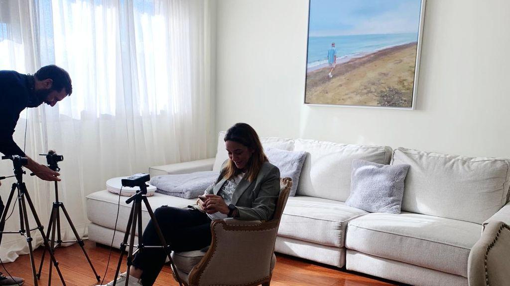 Toñi Moreno, en plena grabación de su canal de mtmad