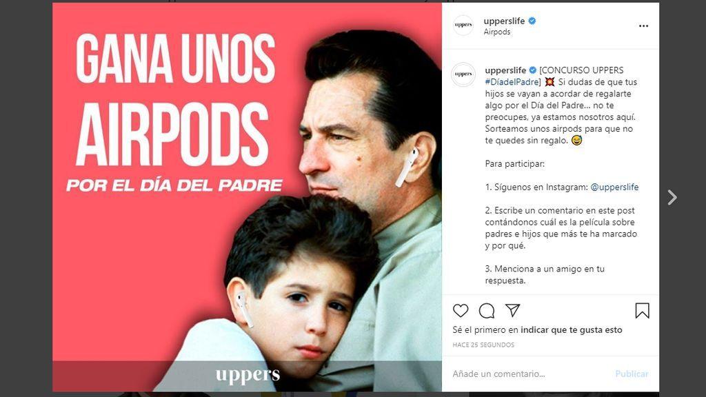 Post Instagram Uppers Concurso Día del Padre