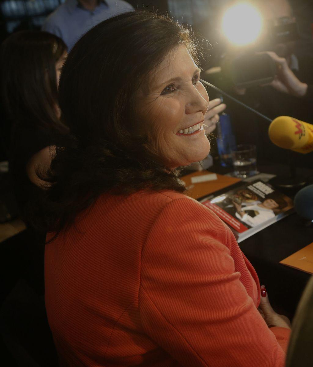 Dolores Aveiro, en la presentación de su biografía