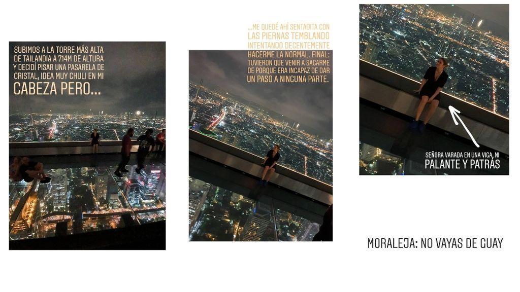 El percance de Blanca Suárez en un rascacielos