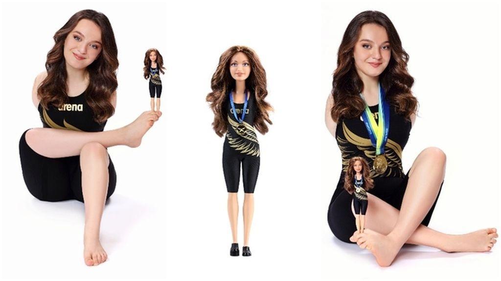 Sümeyye Boyac, la nadadora paralímpica que nació sin brazos, modelo para una muñeca