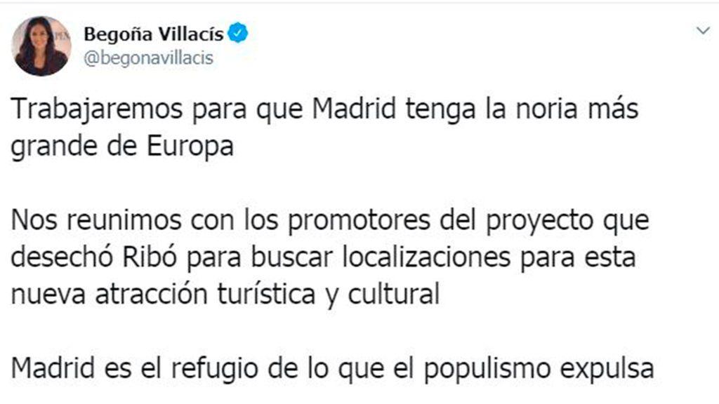 El Ayuntamiento de Madrid estudia poner la noria más grande de Europa en Madrid Río