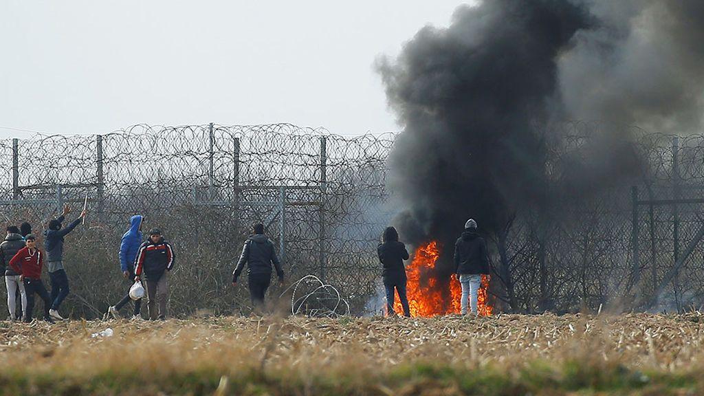 Enfrentamientos en la frontera entre Grecia y Turquía