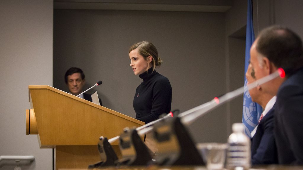Emma Watson, en uno de sus discursos de la ONU.
