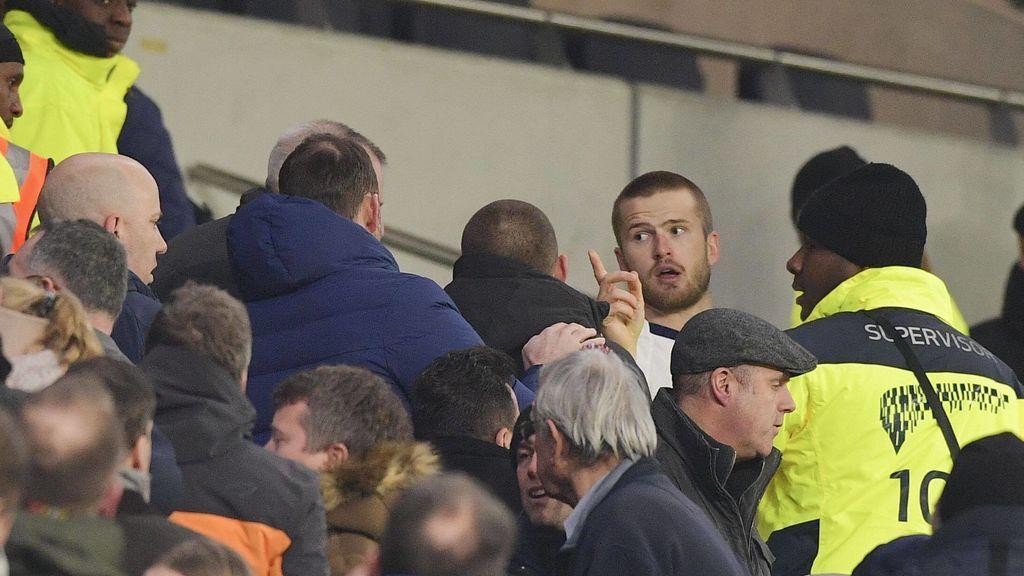 Eric Dier, jugador del Tottenham, se pelea en la grada con aficionados que insultaron a su hermano pequeño