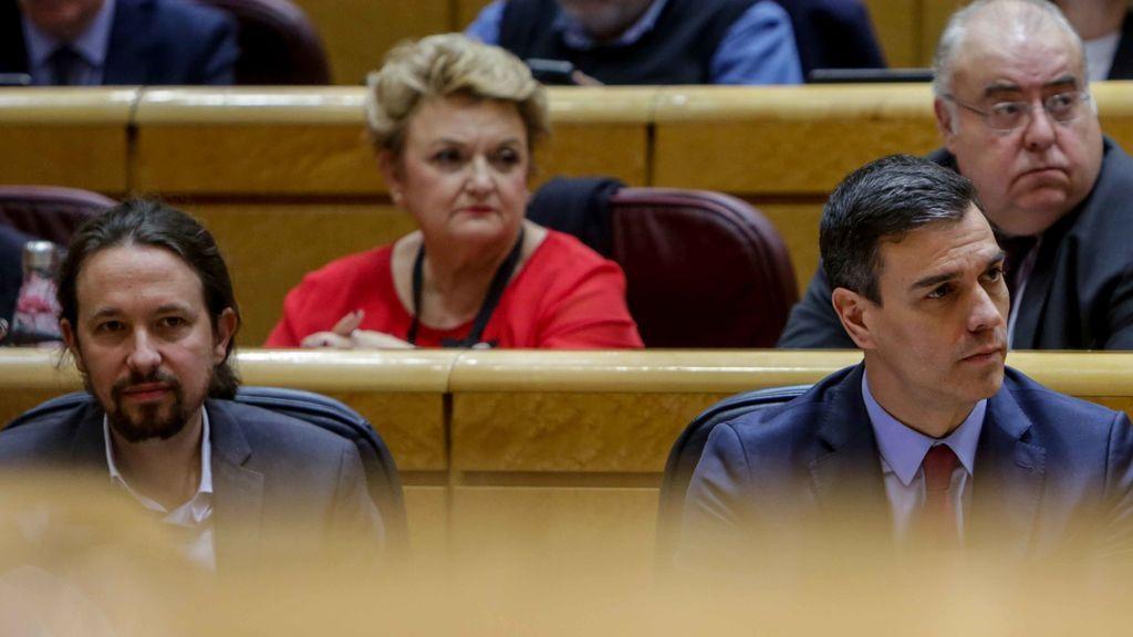 Iglesias y Sánchez en el Senado