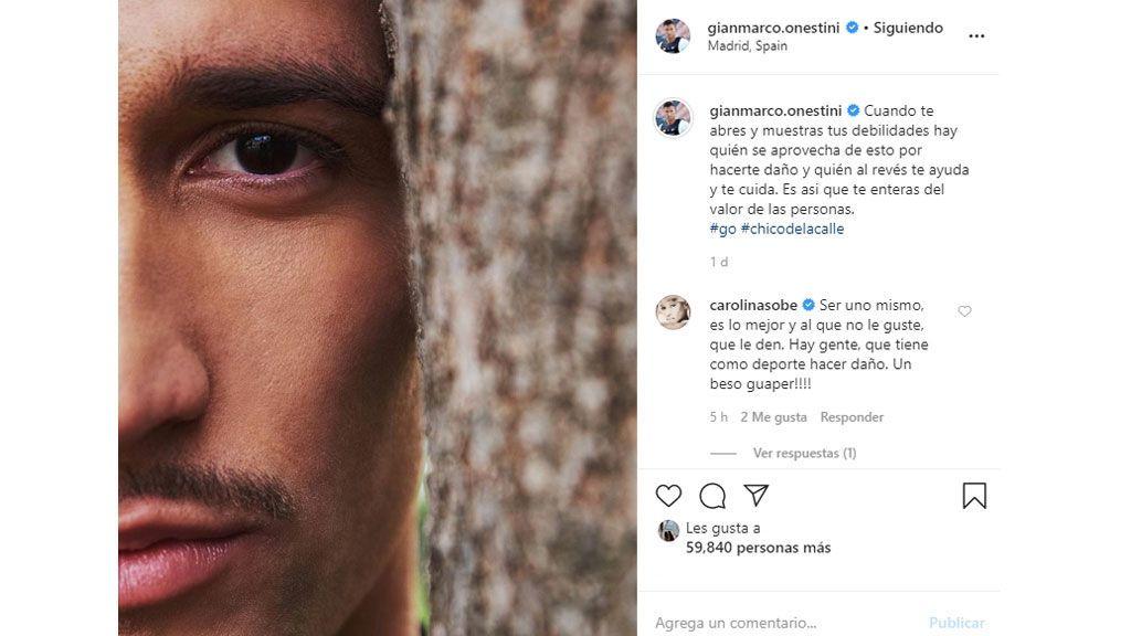 El enigmático mensaje de Gianmarco