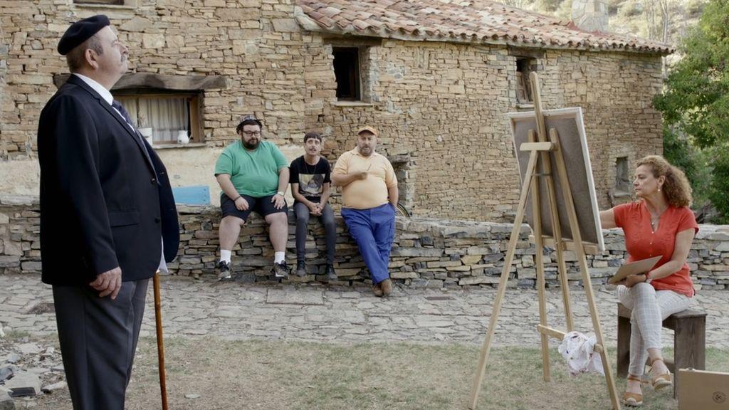 El arte vanguardista llega a Peñafría: adivina quién es el modelo de cada retrato