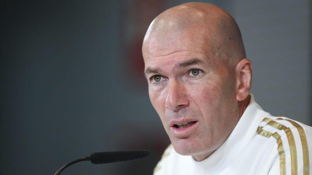 """Zidane, sobre el coronavirus: """"Si algún día jugamos a puerta cerrada o se aplaza el partido, no será nada bueno"""""""