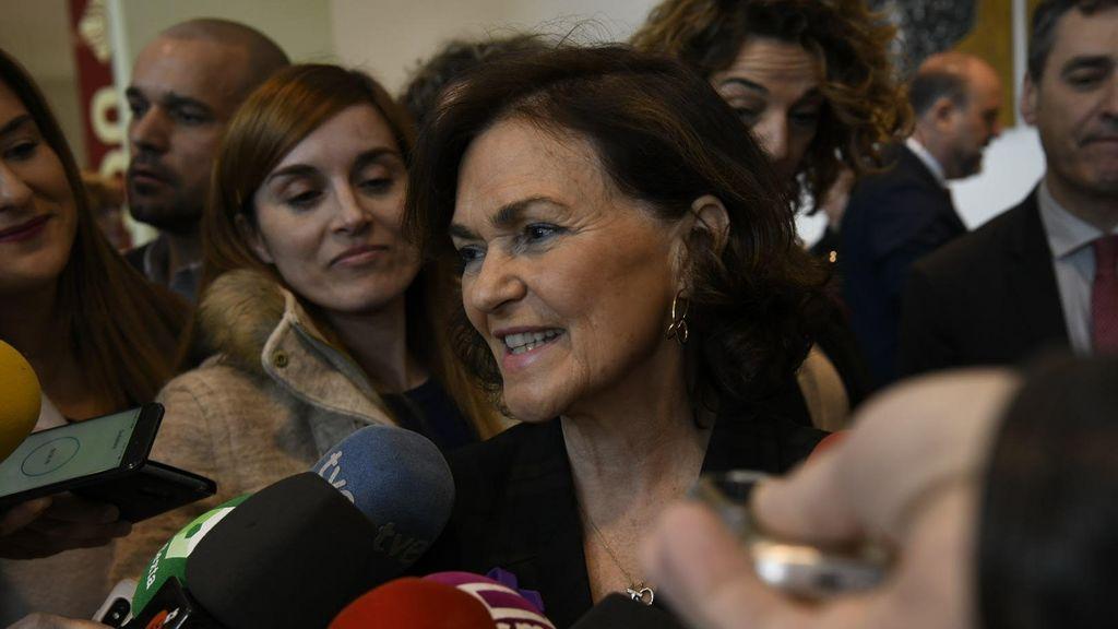 Moncloa niega que Carmen Calvo haya sido apartada de la mesa de coordinación del Gobierno de coalición