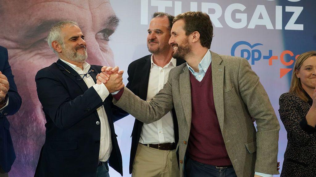 """Casado pide el voto en País Vasco frente al """"nacionalismo excluyente, sectario y xenófobo"""""""