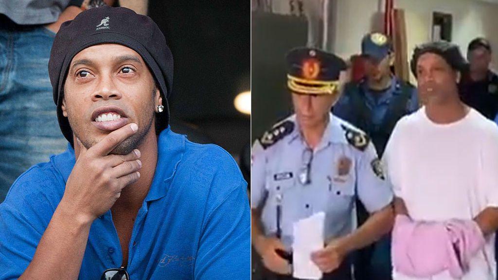 Ronaldinho, detenido de nuevo y esposado por entrar en Paraguay con un pasaporte falso