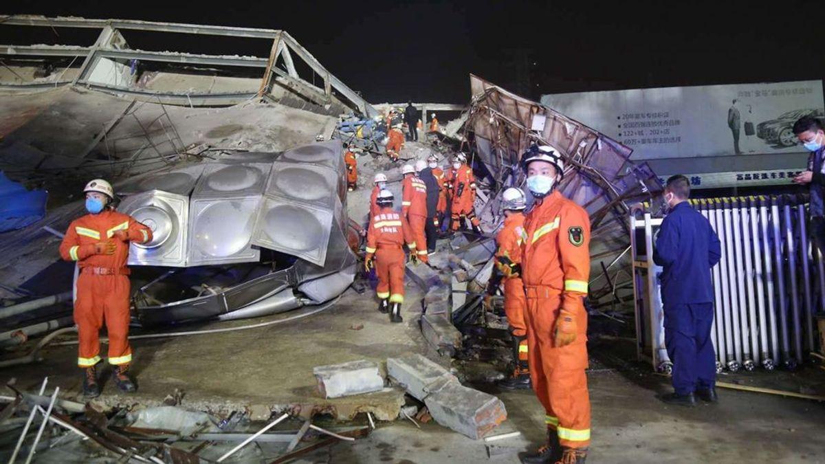 Se derrumba un hotel en cuarentena por el coronavirus en China: 70 personas atrapadas
