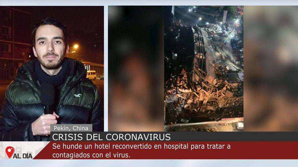 Se derrumba un hotel reconvertido en hospital para tratar casos de coronavirus en China con 70 personas dentro