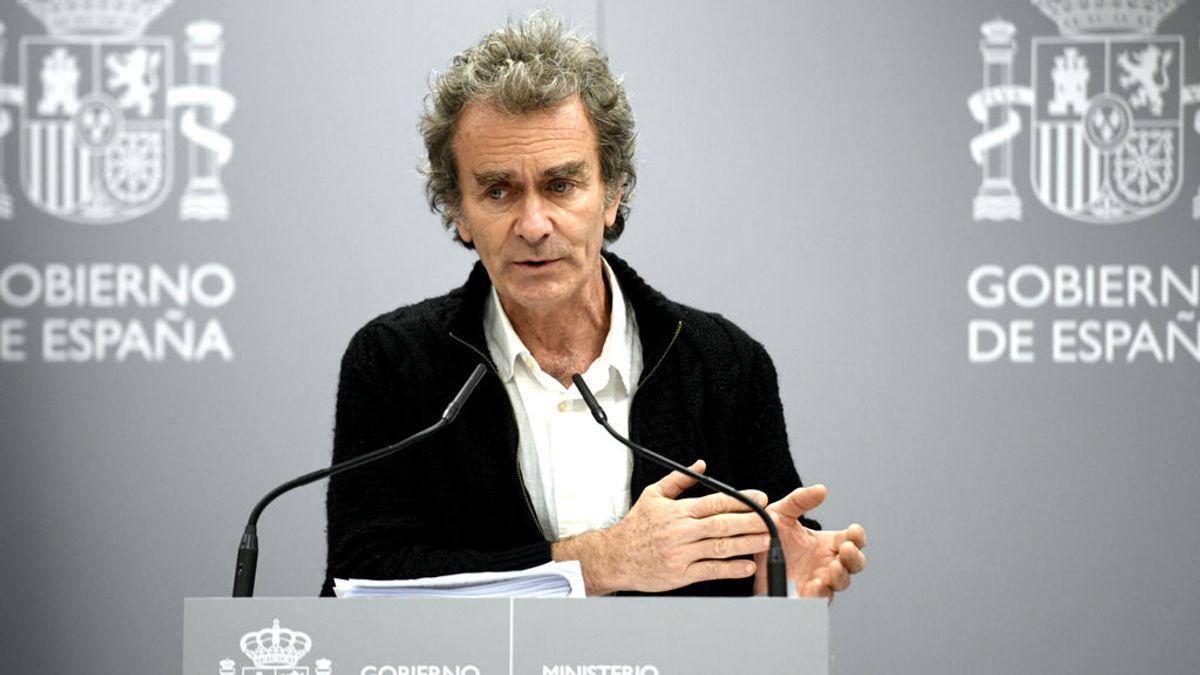 Fernando Simón durante su rueda de prensa