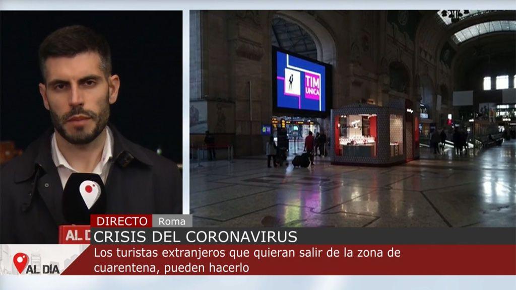 Los turistas de Italia que están en zonas en cuarentena vuelan a España sin problema